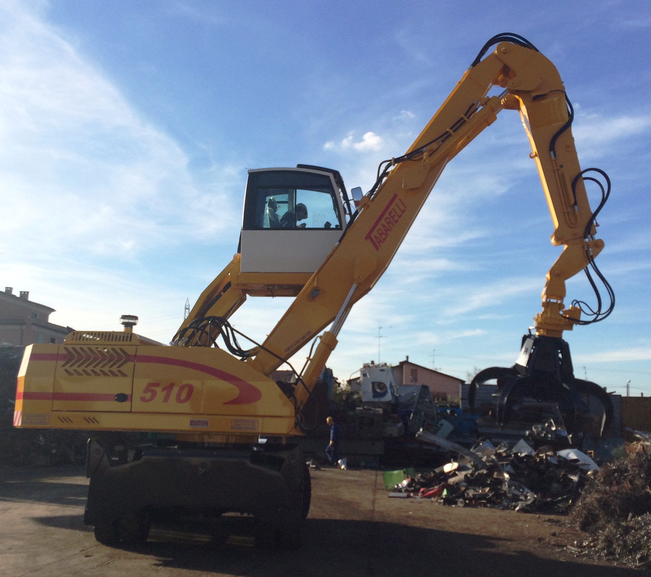 Tabarelli material handler T510 for scrap metal and waste
